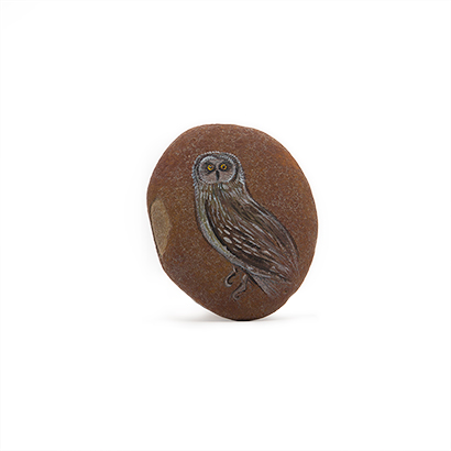 Owl Painted Stone