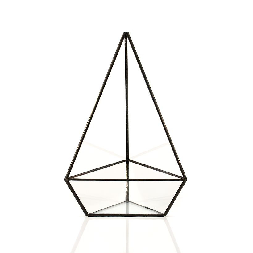 Triangle Terrarium (Black, Tall)