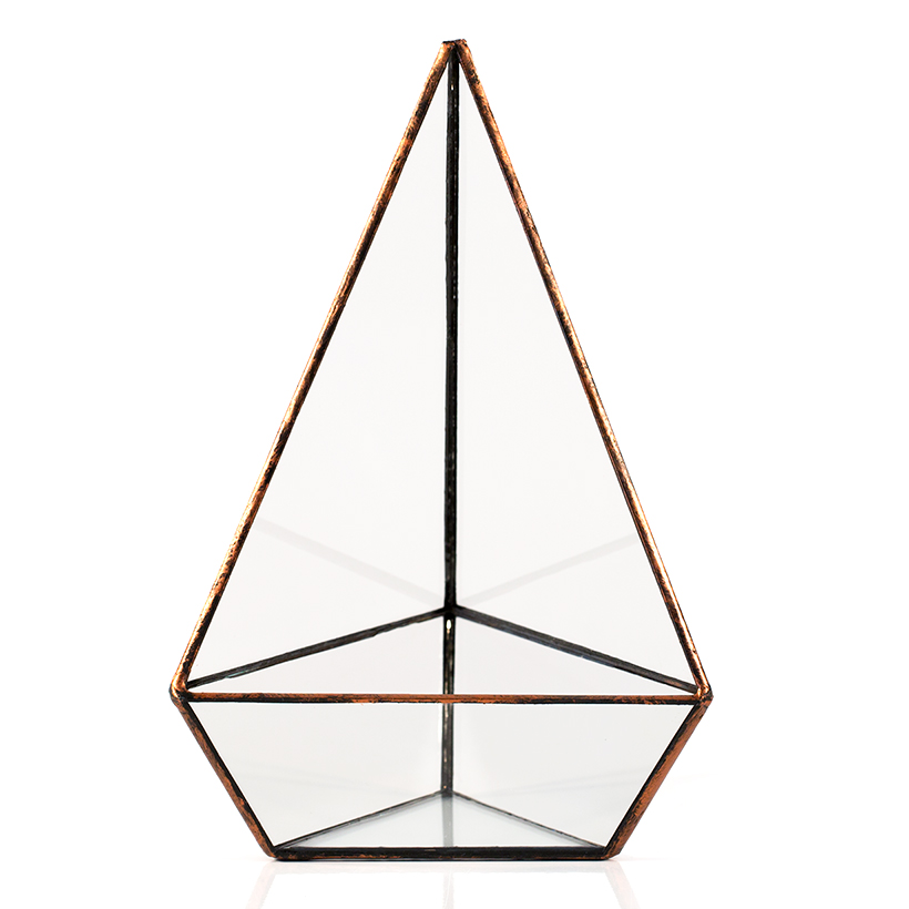 Triangle Terrarium (Copper, Tall)