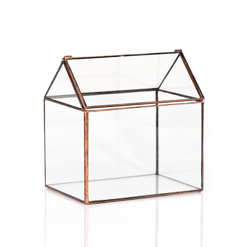 Soldered House Terrarium (Copper)